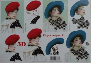 A4 Knipvel Le Suh 4169122 Dames met hoed, extra vagant