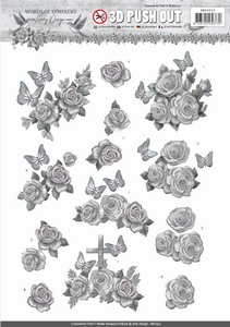3D Stansvel Amy SB10313 Words of Sympathy Roses