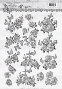 3D Knipvel Amy CD11179 Words of Sympathy Roses