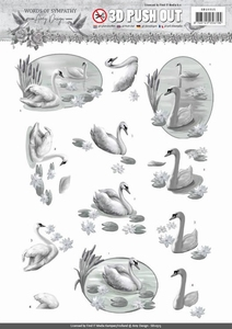 3D Stansvel Amy SB10315 Words of Sympathy Swans