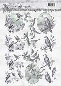 3D Knipvel Amy CD11180 Words of Sympathy Swallows