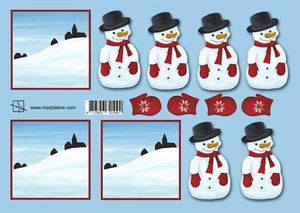 A4 Knipvel Marjoleine 117143/0021 Berg met sneeuwpop