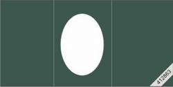Lesuh 412862 ovale passe-partout kaart drieluik groen