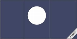 Lesuh 412855 ronde passe-partout kaart drieluik blauw