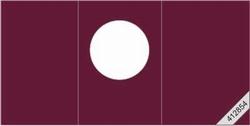 Lesuh 412854 ronde passe-partout kaart drieluik bordeaux