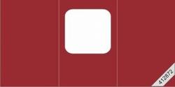 Lesuh 412872 vierkante passe-partout kaart drieluik rood