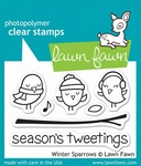 Lawn Fawn LF565 Winter Sparrows Clearstamp