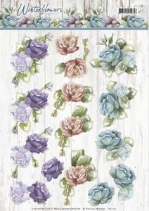 Marieke 3D Knipvel Winter Flowers CD11191 Roses