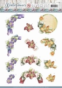 Marieke 3D Stansvel Winter Flowers SB10300 Helleborus