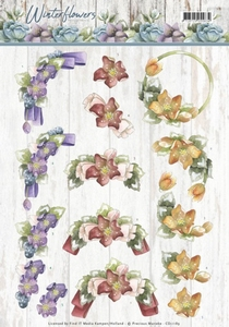 Marieke 3D Knipvel Winter Flowers CD11189 Helleborus