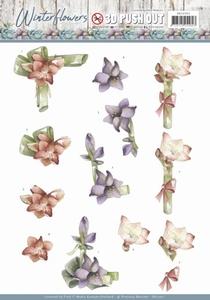 Marieke 3D Stansvel Winter Flowers SB10301 Amaryllis