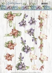 Marieke 3D Knipvel Winter Flowers CD11190 Amaryllis