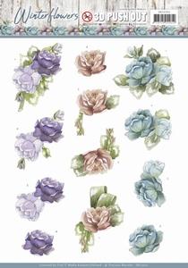 Marieke 3D Stansvel Winter Flowers SB10302 Roses