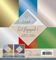 Card Deco Essentials Foil Paperpack CDEPP003 Rood/blauw/goud