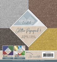 Card Deco Essentials Glitter Paperpack CDEPP001 Zilver/goud
