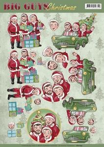 Yvonne Big Guys 3D Knipvel CD11195 Christmas Santa's