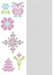 Crosscraft free pattern-1 CCPAT005 'bloemen'