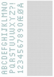 Crosscraft free pattern-1 CCPAT004 'alphabet'