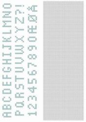 Crosscraft free pattern-1 CCPAT004 'alphabet'