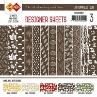 Card Deco Designer Sheets CDDSCB003 Autumn Colors Chocolade