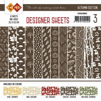 Card Deco Designer Sheets CDDSCB003 Autumn Colors Chocolade