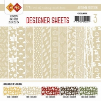 Card Deco Designer Sheets CDDSLB003 Autumn Colors Lichtbruin