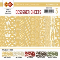 Card Deco Designer Sheets CDDSOK003 Autumn Colors Oker