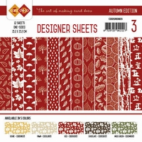 Card Deco Designer Sheets CDDSRD003 Autumn Colors Rood