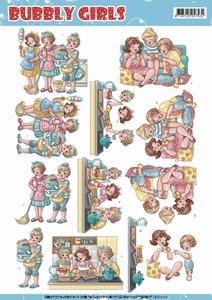 Yvonne Bubbly Girls 3D Knipvel CD11216 Round the house
