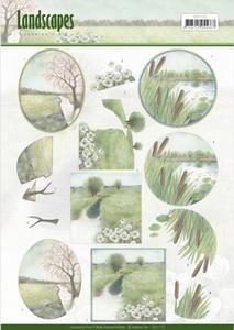 3D Knipvel Jeanine's Art CD11173  Landscapes - Winter
