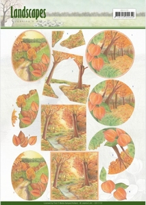 3D Knipvel Jeanine's Art CD11172  Landscapes - Fall