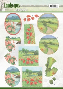 3D Knipvel Jeanine's Art CD11171  Landscapes - Summer