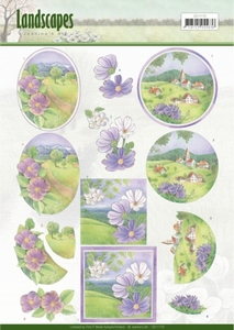 3D Knipvel Jeanine's Art CD11170  Landscapes - Spring