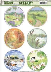 Die Cut Topper Scenery Jeanine's Art CDS10006 Landscapes