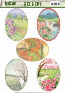 Die Cut Topper Scenery Jeanine's Art CDS10007 Landscapes
