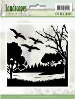 Cut and Embossing folder Jeanine's Art JAEMB10006 Landscapes