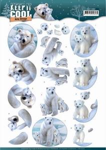 3D Knipvel Amy CD11202 Keep it Cool Polar Bears