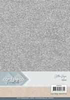Card Deco Essentials Glitter Paper CDEGP014 Silver