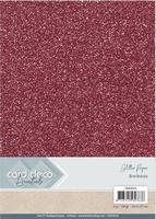 Card Deco Essentials Glitter Paper CDEGP016 Bordeaux