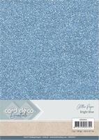 Card Deco Essentials Glitter Paper CDEGP012 Bright Blue