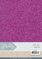 Card Deco Essentials Glitter Paper CDEGP007 Bright Pink