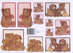 A4 Knipvel Marjoleine 712926294167 Baby beren roze