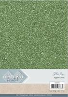 Card Deco Essentials Glitter Paper CDEGP006 Apple Green