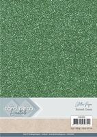 Card Deco Essentials Glitter Paper CDEGP005 Forest Green