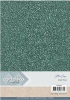 Card Deco Essentials Glitter Paper CDEGP004 Dark Teal