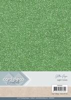 Card Deco Essentials Glitter Paper CDEGP002 Light Green