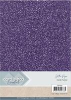Card Deco Essentials Glitter Paper CDEGP001 Dark Purple