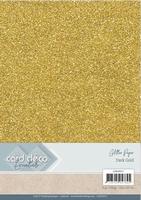 Card Deco Essentials Glitter Paper CDEGP017 Dark Gold