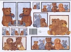 A4 Knipvel Marjoleine 712926294150 Baby beren blauw