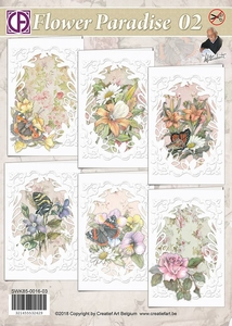 Creatief Art kaarten SWK85-0016-03 Flower Paradise 02